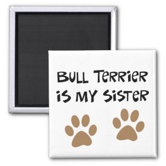 Bull Terrier Is My Sister Magnet