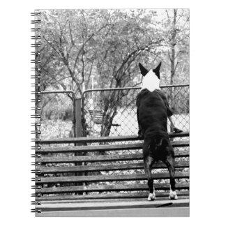 Bull terrier libreta espiral