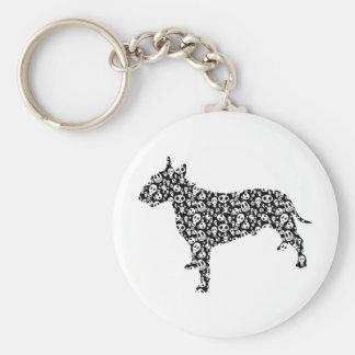 Bull terrier llavero