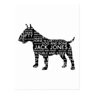 Bull Terrier London Slang Cockney Postcard
