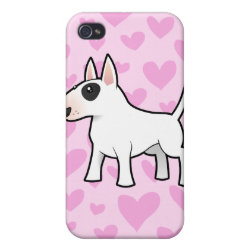 Case Savvy iPhone 4 Matte Finish Case with Bull Terrier Phone Cases design