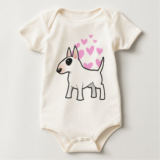 Bull Terrier Love Baby Bodysuit