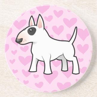 Bull Terrier Love Beverage Coasters
