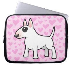 Neoprene Laptop Sleeve 10 inch with Bull Terrier Phone Cases design