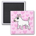 Bull Terrier Love Refrigerator Magnet