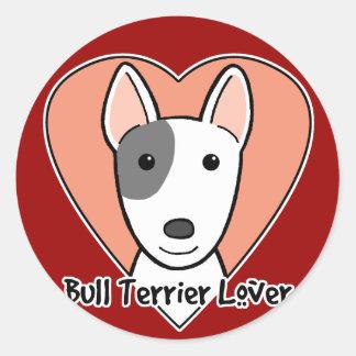 Bull Terrier Lover Classic Round Sticker