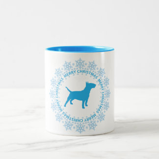 Bull Terrier Merry Christmas Coffee Mug
