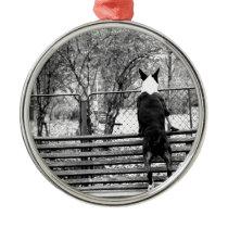 Bull terrier metal ornament