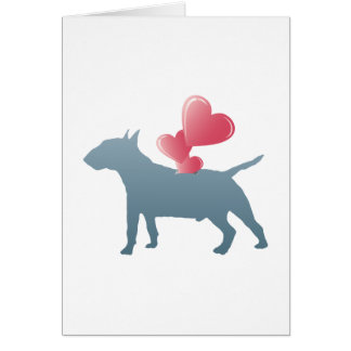 Bull terrier miniatura tarjeton