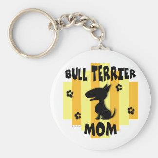 Bull Terrier Mom Keychain