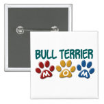 BULL TERRIER MOM Paw Print 1 Buttons