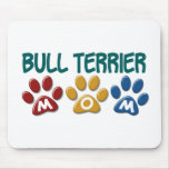 BULL TERRIER MOM Paw Print 1 Mouse Pad