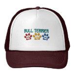 BULL TERRIER MOM Paw Print 1 Trucker Hat