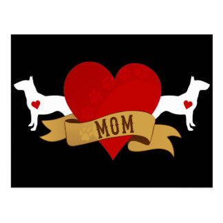 Bull Terrier Mom [Tattoo style] Postcard