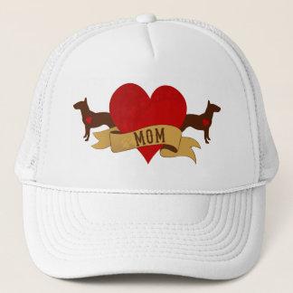 Bull Terrier Mom [Tattoo style] Trucker Hat