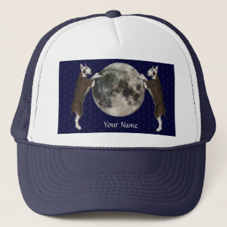 Bull Terrier Moon Trucker Hat