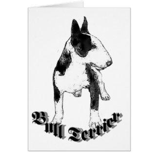 Bull terrier Notecard Tarjetón