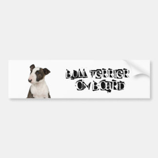 Bull Terrier on Board Bumper Sticker