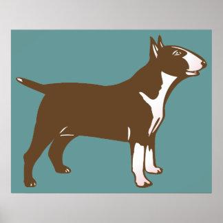 Bull terrier poster