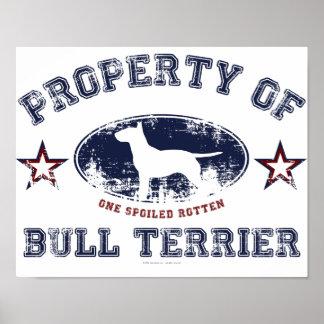 Bull terrier impresiones
