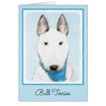 Bull Terrier Painting - Cute Original Dog Art