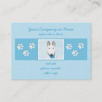 Bull Terrier Painting - Cute Original Dog Art Business Card