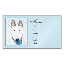 Bull Terrier Painting - Cute Original Dog Art Business Card Magnet
