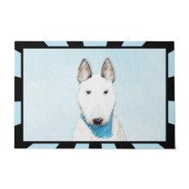 Bull Terrier Painting - Cute Original Dog Art Doormat
