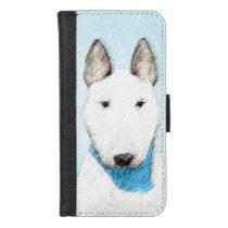Bull Terrier Painting - Cute Original Dog Art iPhone 8/7 Wallet Case