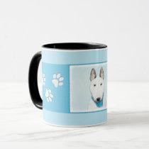 Bull Terrier Painting - Cute Original Dog Art Mug