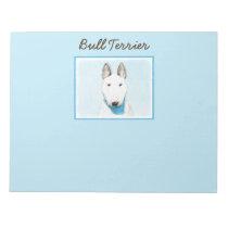 Bull Terrier Painting - Cute Original Dog Art Notepad