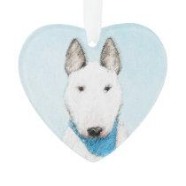 Bull Terrier Painting - Cute Original Dog Art Ornament
