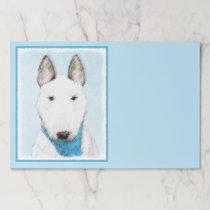 Bull Terrier Painting - Cute Original Dog Art Paper Pad