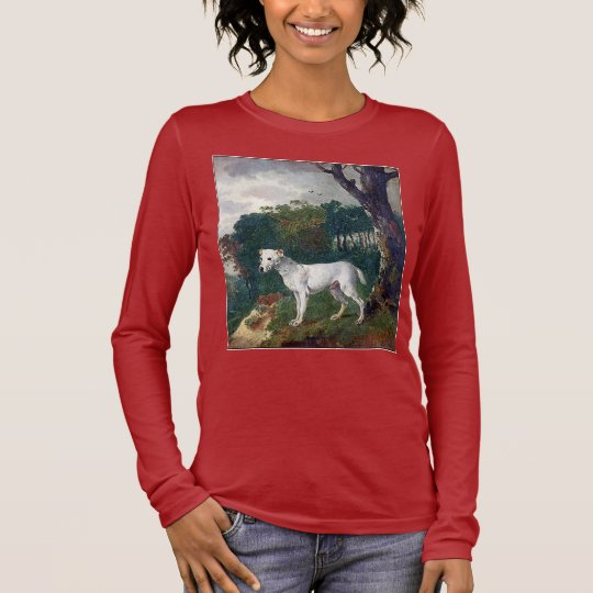 Bull Terrier Painting - Vintage Fine Art Long Sleeve T-Shirt