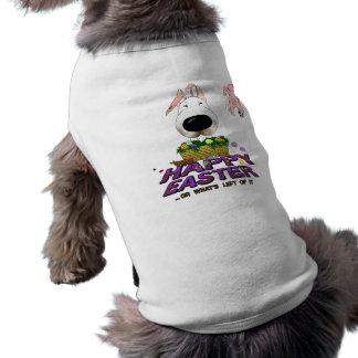 Bull terrier Pascua feliz Playera Sin Mangas Para Perro