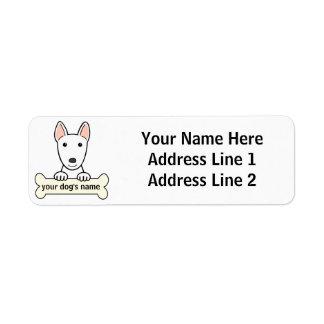 Bull terrier personalizado etiquetas de remite