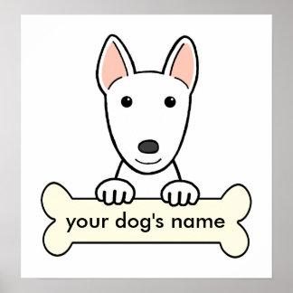 Bull terrier personalizado poster
