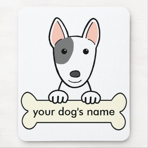 Bull terrier personalizado tapete de ratones