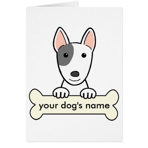 Bull terrier personalizado tarjeta de felicitación