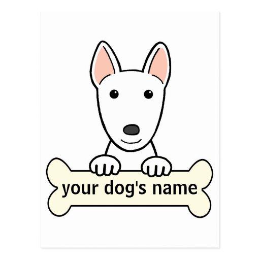 Bull terrier personalizado tarjetas postales
