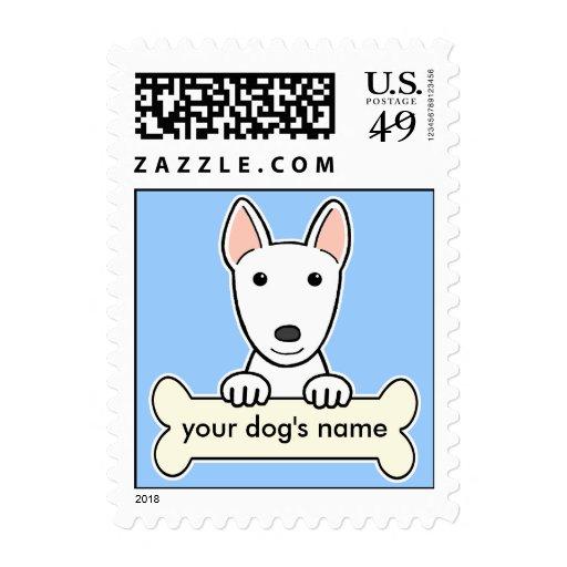 Bull terrier personalizado timbres postales