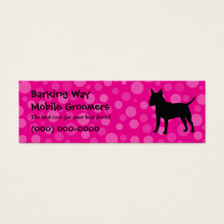 Bull Terrier Pet Care Pink Mini Business Card