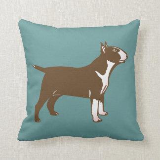 Bull Terrier Throw Pillows