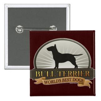 Bull terrier pin cuadrado