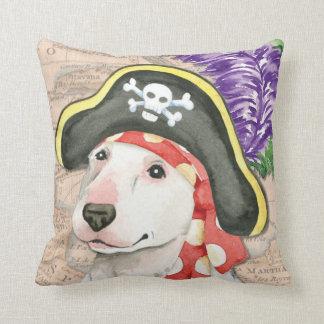 Bull Terrier Pirate Throw Pillow