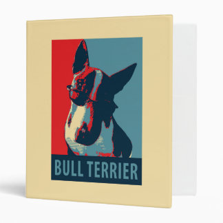 Bull Terrier Political Parody Binder