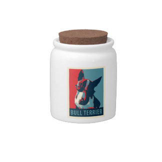 Bull Terrier Political Parody Candy Jars