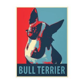 Bull Terrier Political Parody Canvas Print