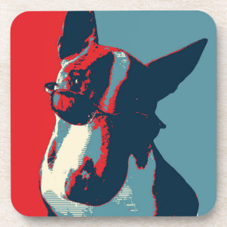 Bull Terrier Political Parody Drink Coaster