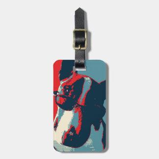 Bull Terrier Political Parody Luggage Tag